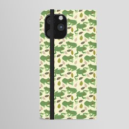 Fun Frogs with Leaves from Trees iPhone Wallet Case