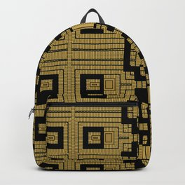 Tribal Gold Abstract Pattern Backpack