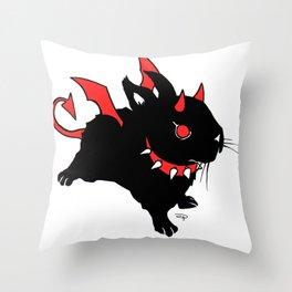Evil Bunny Throw Pillow