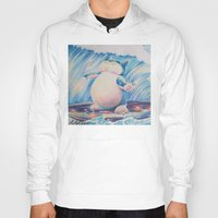 snorlax Hoodies featuring Snorlax Used Surf by LaurelAnneEquineArt