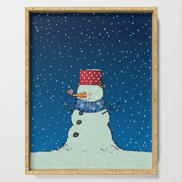 A song for Mr. Snowman Serving Tray