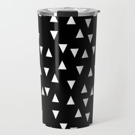 Black and white triangle desgn in minimal style Travel Mug