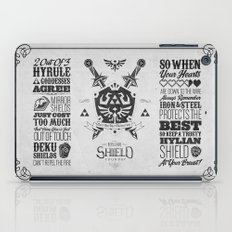 Legend of Zelda Hylian Shield Foundry logo Iconic Geek Line Artly iPad Case
