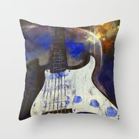 heavy metal Throw Pillows featuring Heavy Metal by Michael Creese