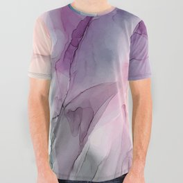 Dark and Pastel Ethereal- Original Fluid Art Painting All Over Graphic Tee