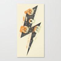 paramore Canvas Prints featuring Dj's Lightning by Sitchko Igor