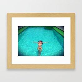 Asian Pool Framed Art Print