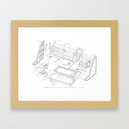 Korg MS-20 - exploded diagram Framed Art Print