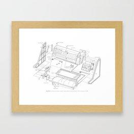 Korg MS-20 - exploded diagram Framed Art Print