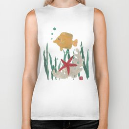 Angelfish, Starfish, Sea Creatures  Biker Tank