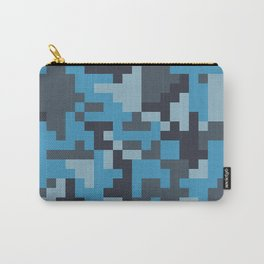 Blue and Grey Pixel Camo pattern Carry-All Pouch