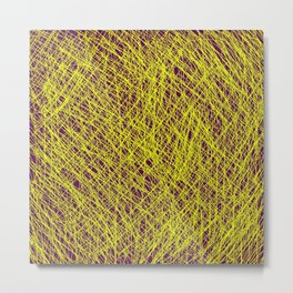 Expressive Yellow (Abstract, purple and yellow) Metal Print