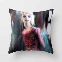 Caught in the Night Throw Pillow