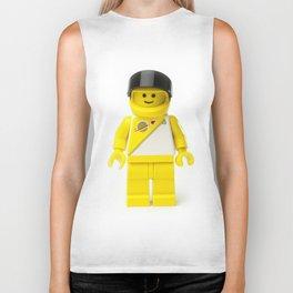 Yellow astronaut Minifig with his visor up Biker Tank