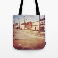 memphis Tote Bags featuring Memphis Street by wendygray