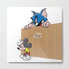 Wrong Mouse Metal Print