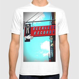 Reckless Records ~ chicago sign T-shirt