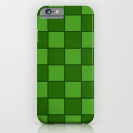 Green Chex 1 iPhone Case