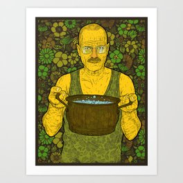 Cook (green) Art Print