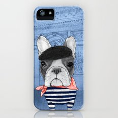 Frenchie with Arc de Triomphe iPhone (5, 5s) Slim Case