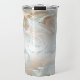 Watercolour in Blue Gold Travel Mug