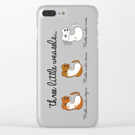 Three Little Weasels (c) 2017 Clear iPhone Case