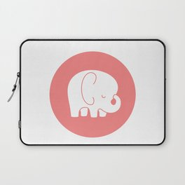 Mod Baby Elephant Coral Laptop Sleeve