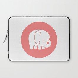 Mod Baby Elephant Coral Laptop Sleeve