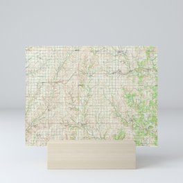 KS Sedan 801642 1985 topographic map Mini Art Print
