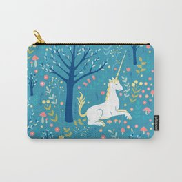 Teal unicorn garden Carry-All Pouch