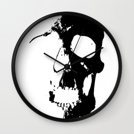 Skull - Black Wall Clock