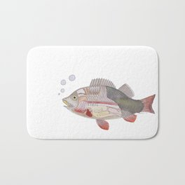 See through fish Bath Mat