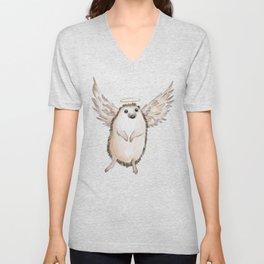 Angel hedgehog Unisex V-Neck