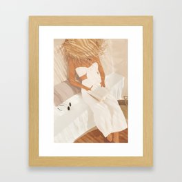 Summer Reading II Framed Art Print