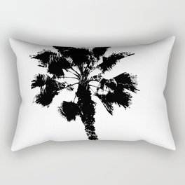Black & White Palm Rectangular Pillow