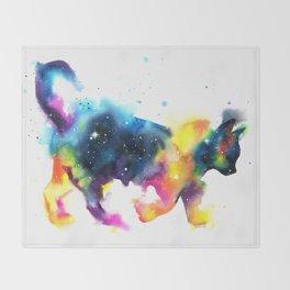 Cat galaxy Throw Blanket