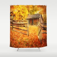welcome Shower Curtains featuring Welcome by ThePhotoGuyDarren
