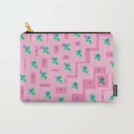 Flower pattern on pink Carry-All Pouch