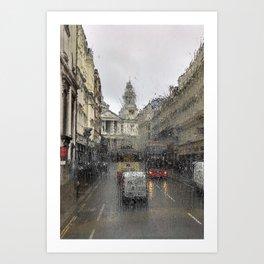 London Drizzle Art Print