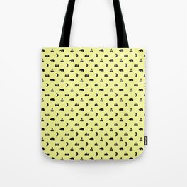 LET'S GO CAMPING, CREAM Tote Bag