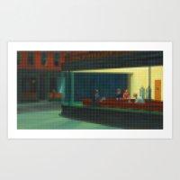 Lego: Nighthawks Art Print