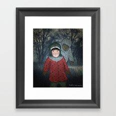 Посмотри! Йети - Beware of the Yeti!  Framed Art Print