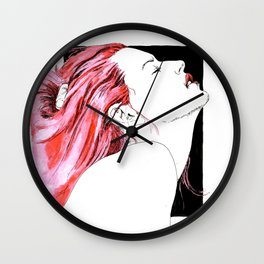hair in rose Wall Clock