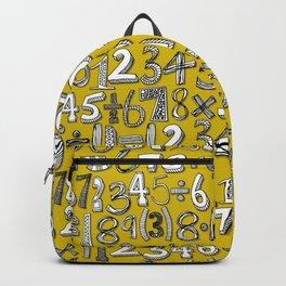 math doodle yellow Backpack
