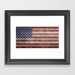 Flag of the United States of America - Vintage Retro Distressed Textured version Framed Art Print
