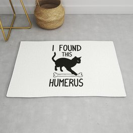 I Found This Humerus T Shirt Cat Pun Funny Cats Rug