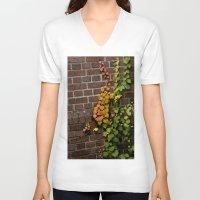 climbing V-neck T-shirts featuring Climbing by C. Wie Design