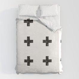 Watercolor Swiss Cross (White) Duvet Cover