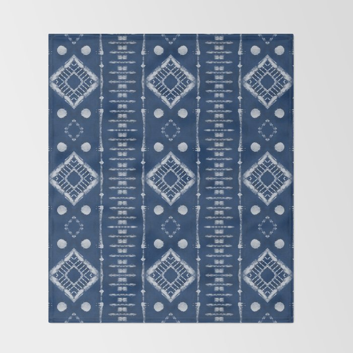 "Shibori Style ""Ladder"" Throw Blanket"