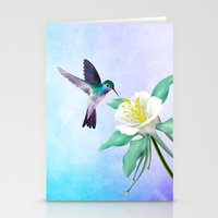 hummingbird Stationery Cards featuring hummingbird. by haroulita